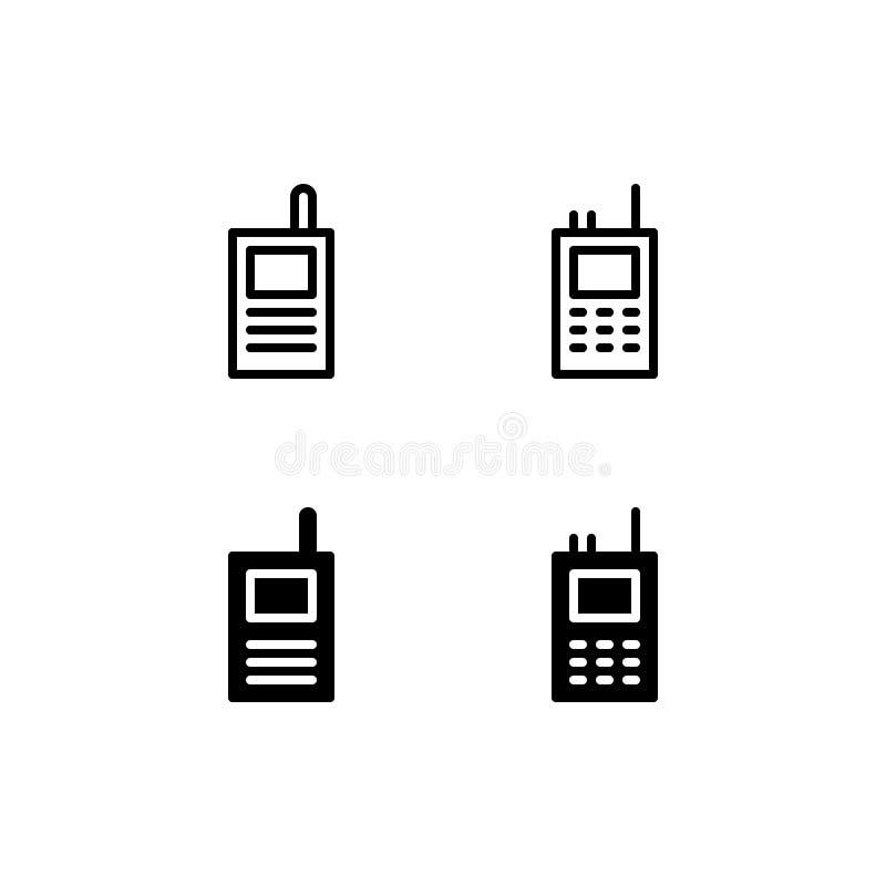 Ícone Logo Vetora Symbol Isolated do Walkietalkie no fundo branco ilustração do vetor