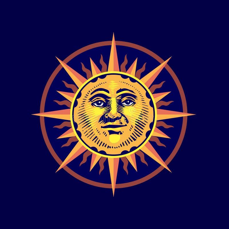 Ícone/logotipo do horóscopo Ilustração da arte ilustração do vetor