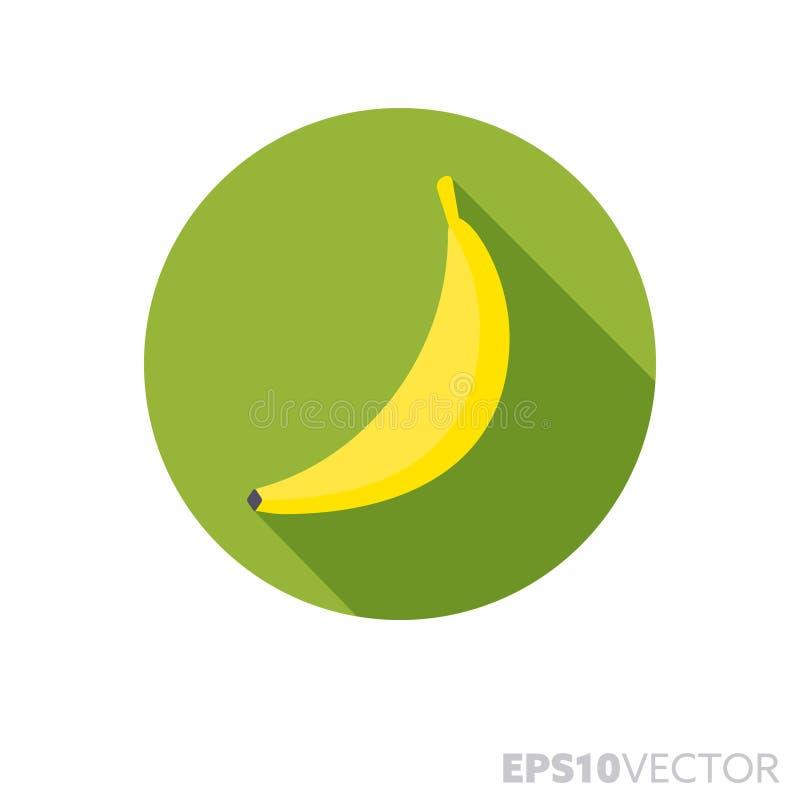 Ícone longo do vetor da cor da sombra do projeto liso do fruto da banana ilustração do vetor