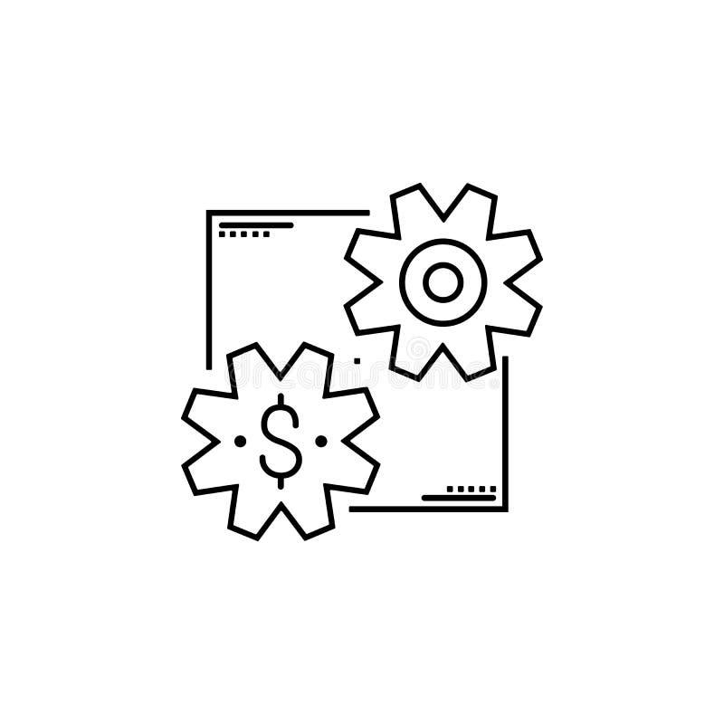 Ícone lucrativo Elemento do ícone popular da finança Projeto gráfico da qualidade superior Sinais, ícone da coleção dos símbolos  imagens de stock