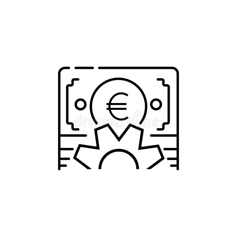Ícone lucrativo Elemento do ícone popular da finança Projeto gráfico da qualidade superior Sinais, ícone da coleção dos símbolos  imagens de stock royalty free