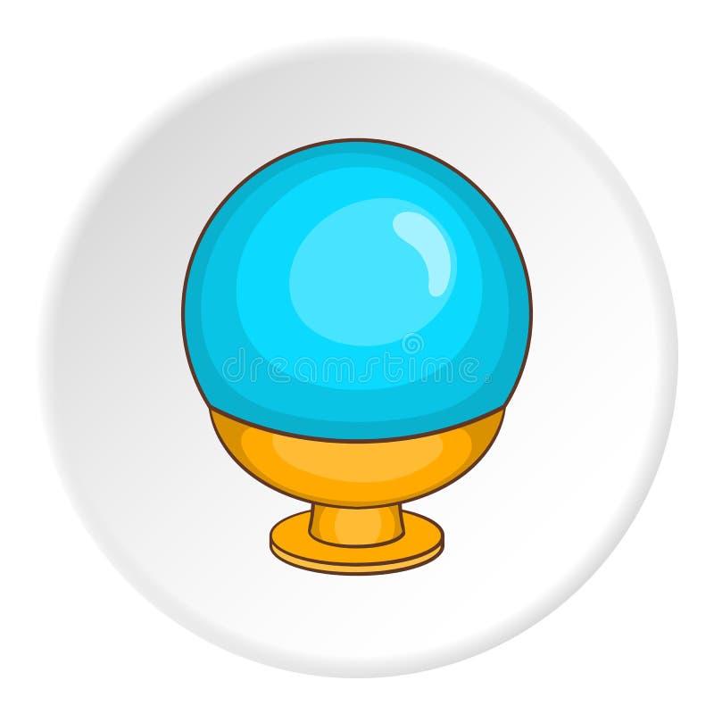 Ícone mágico da bola, estilo dos desenhos animados ilustração royalty free