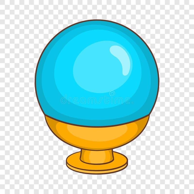 Ícone mágico da bola no estilo dos desenhos animados ilustração royalty free