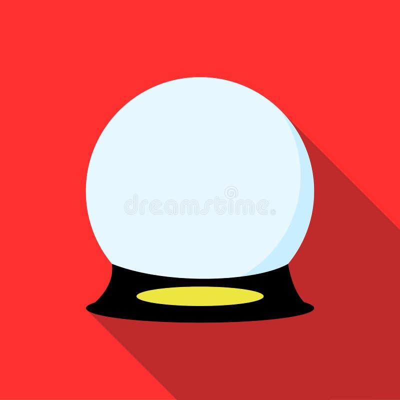 Ícone mágico da bola no estilo liso ilustração royalty free