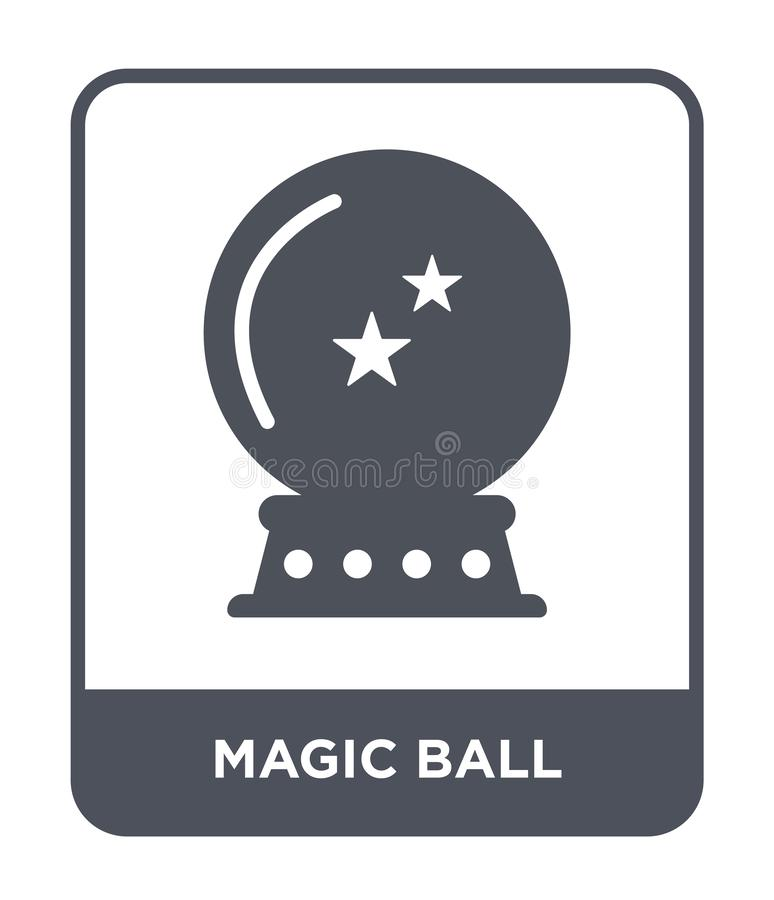 ícone mágico da bola no estilo na moda do projeto ícone mágico da bola isolado no fundo branco ícone mágico do vetor da bola simp ilustração do vetor