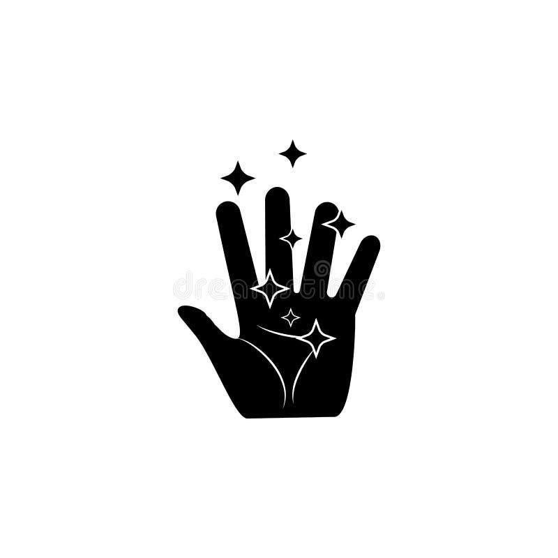 ícone mágico da mão Elemento do ícone mágico popular Projeto gráfico da qualidade superior Sinais, ícone para Web site, Web de da ilustração stock