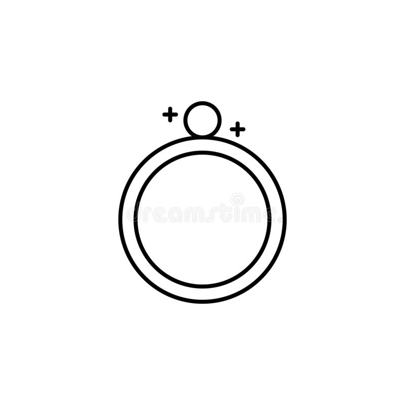Ícone mágico do esboço do anel Os sinais e os símbolos podem ser usados para a Web, logotipo, app móvel, UI, UX ilustração do vetor