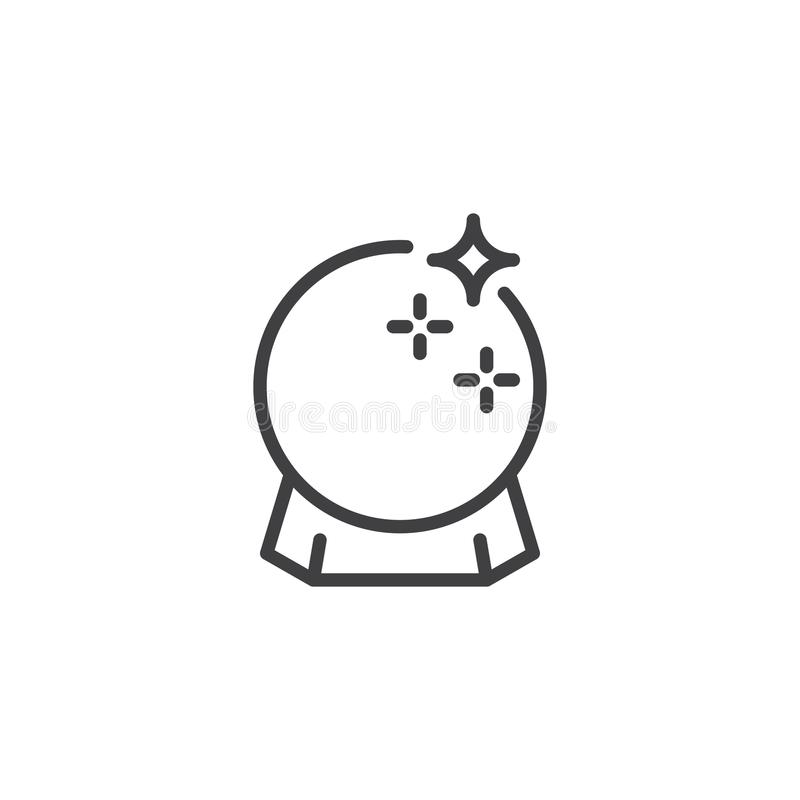 Ícone mágico do esboço da bola ilustração do vetor