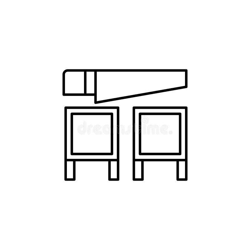 Ícone mágico do esboço da serra Os sinais e os símbolos podem ser usados para a Web, logotipo, app móvel, UI, UX ilustração royalty free