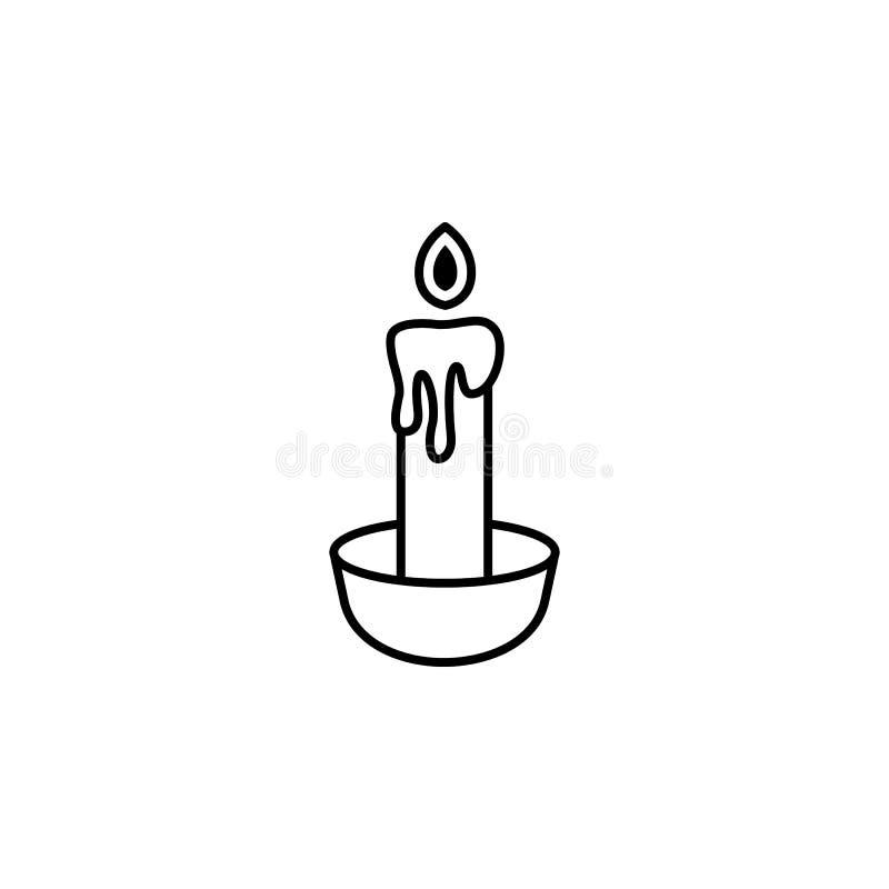 Ícone mágico do esboço da vela Os sinais e os símbolos podem ser usados para a Web, logotipo, app móvel, UI, UX ilustração royalty free