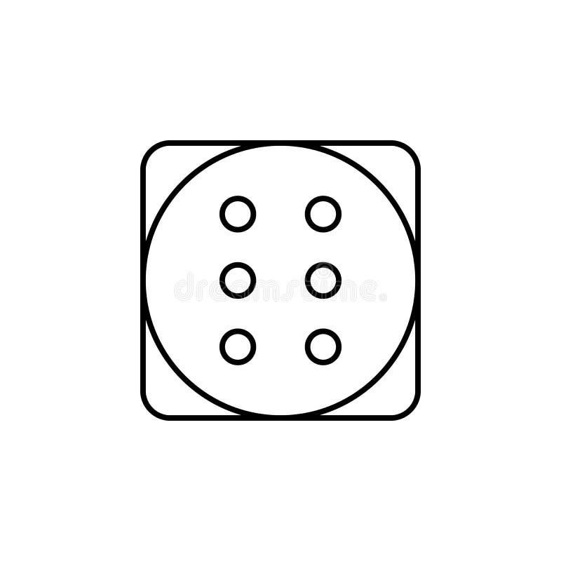 Ícone mágico do esboço dos dados Os sinais e os símbolos podem ser usados para a Web, logotipo, app móvel, UI, UX ilustração stock