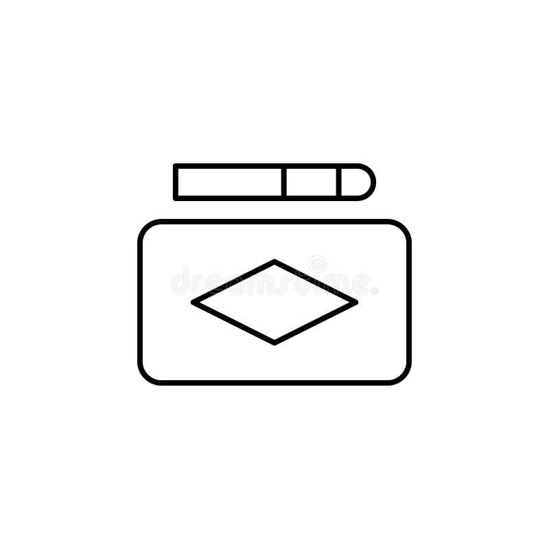 Ícone mágico do esboço do fósforo Os sinais e os símbolos podem ser usados para a Web, logotipo, app móvel, UI, UX ilustração do vetor
