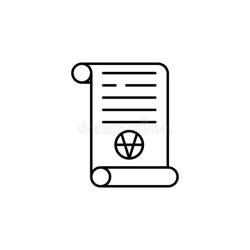 Ícone mágico do esboço do rolo da arte Os sinais e os símbolos podem ser usados para a Web, logotipo, app móvel, UI, UX ilustração stock