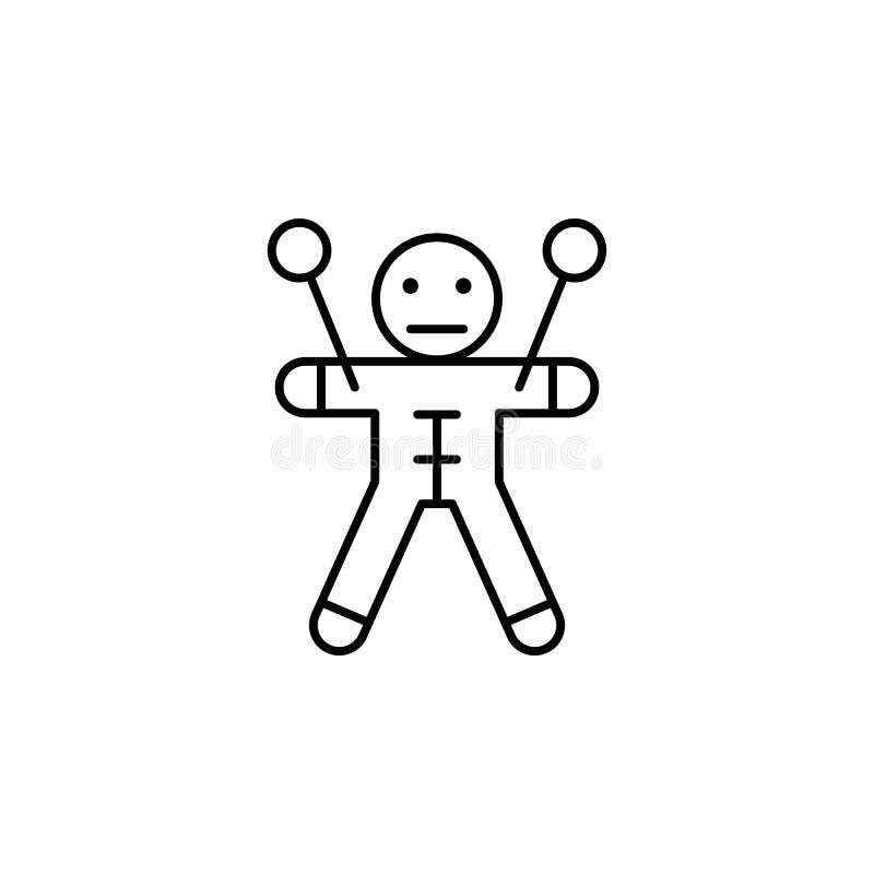Ícone mágico do esboço do vudu Os sinais e os símbolos podem ser usados para a Web, logotipo, app móvel, UI, UX ilustração do vetor