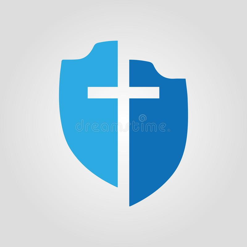 Ícone médico azul do protetor do vetor Conceito liso moderno para bandeiras da Web, app móvel da ilustração do vetor do projeto,  ilustração do vetor