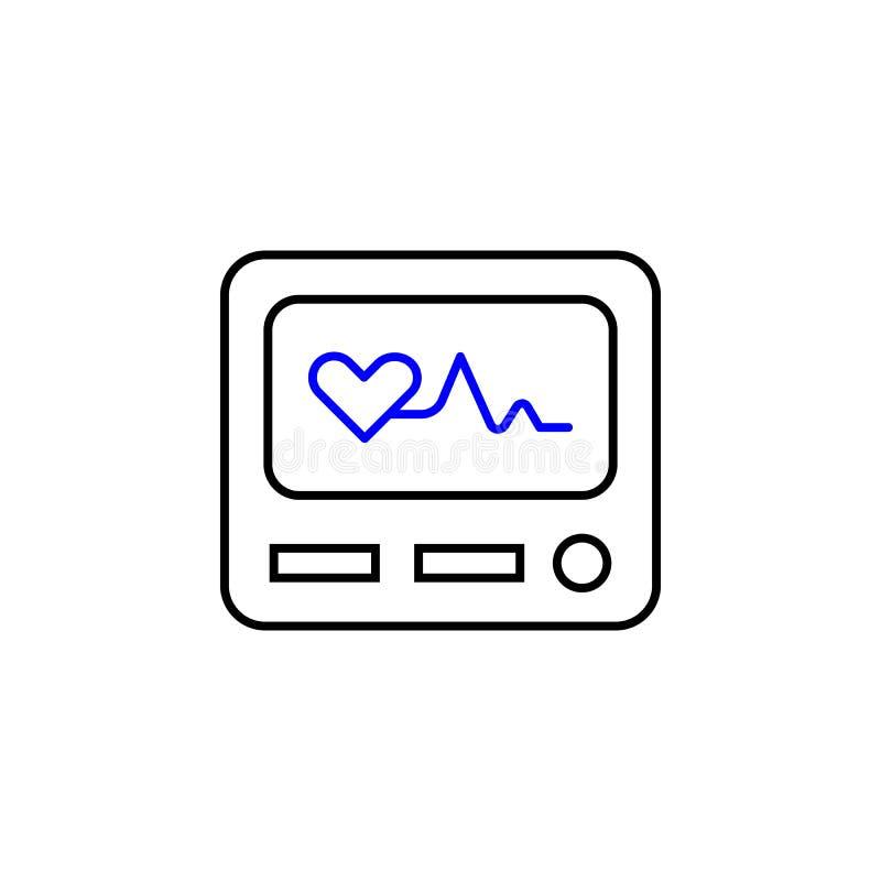 Ícone médico da eletrocardiografia Elemento do ícone médico para apps móveis do conceito e da Web Eletrocardiografia médica detal ilustração do vetor