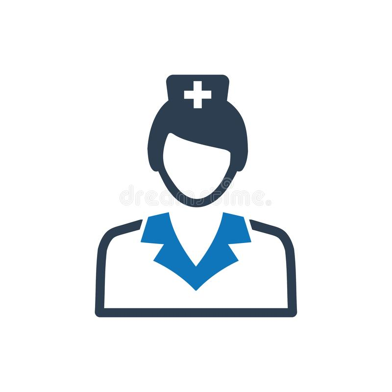 Ícone médico da enfermeira ilustração do vetor