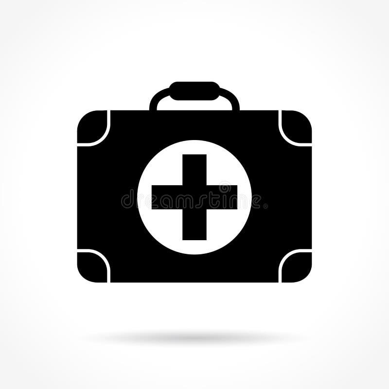 Ícone médico da mala de viagem ilustração do vetor
