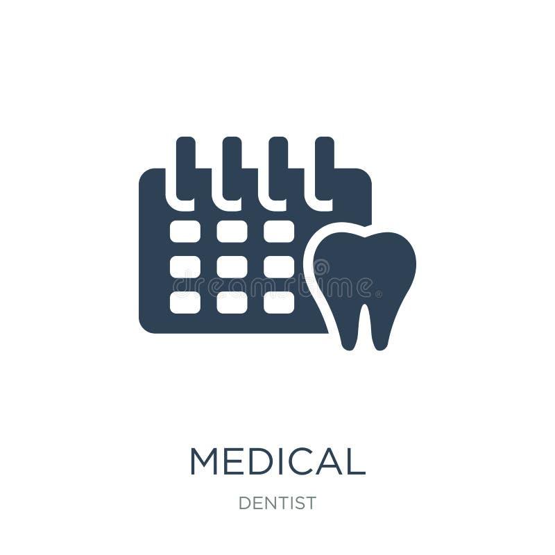 ícone médico da nomeação no estilo na moda do projeto ícone médico da nomeação isolado no fundo branco vetor médico da nomeação ilustração royalty free