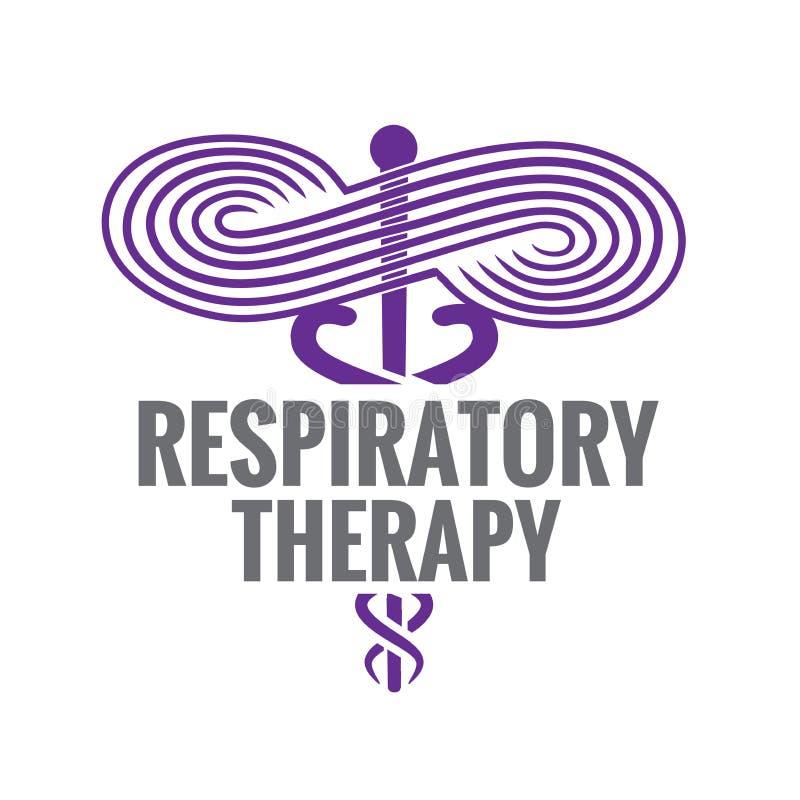 Ícone médico do símbolo da terapia respiratória - para RRT, RT ou CRT ilustração do vetor