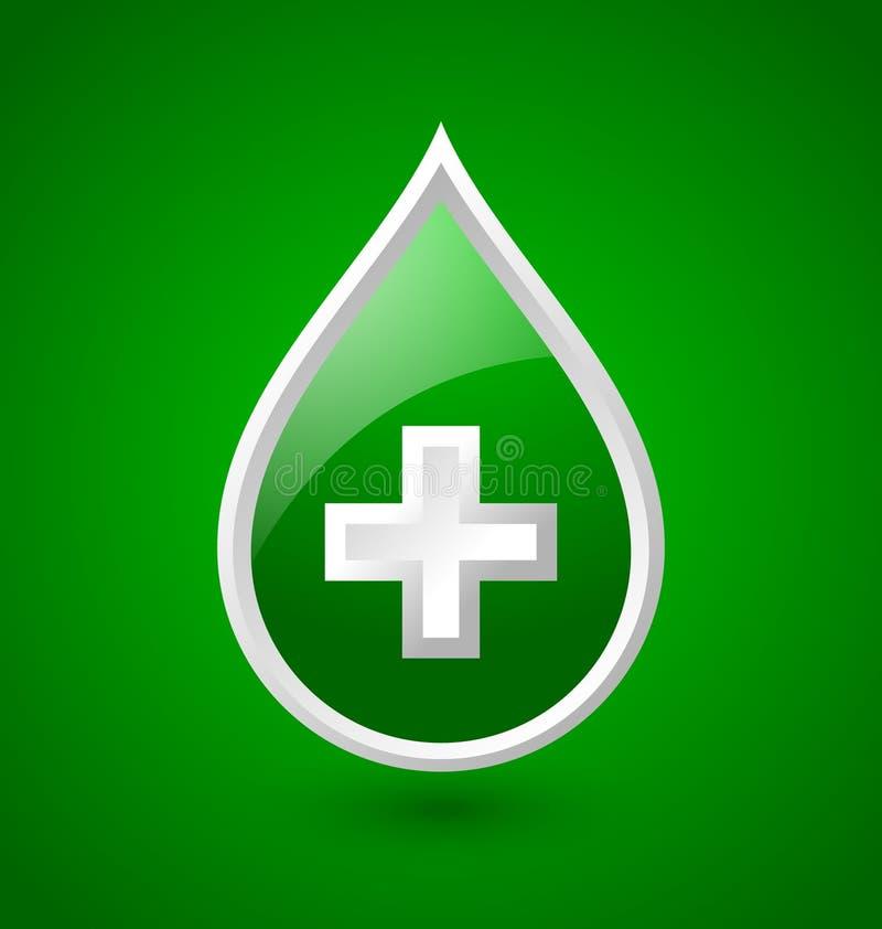 Download Ícone Médico Do Sangue Verde Ilustração do Vetor - Ilustração de medicina, ícone: 29828096