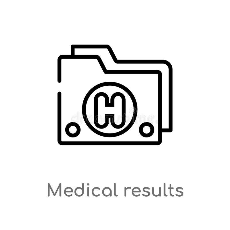 ícone médico do vetor dos dobradores dos resultados do esboço linha simples preta isolada ilustração do elemento do conceito médi ilustração royalty free