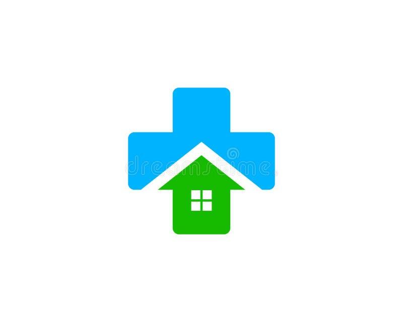 Ícone médico home Logo Design Element da casa ilustração do vetor