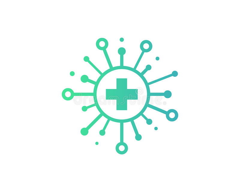 Ícone médico Logo Design Element da parte da saúde ilustração royalty free