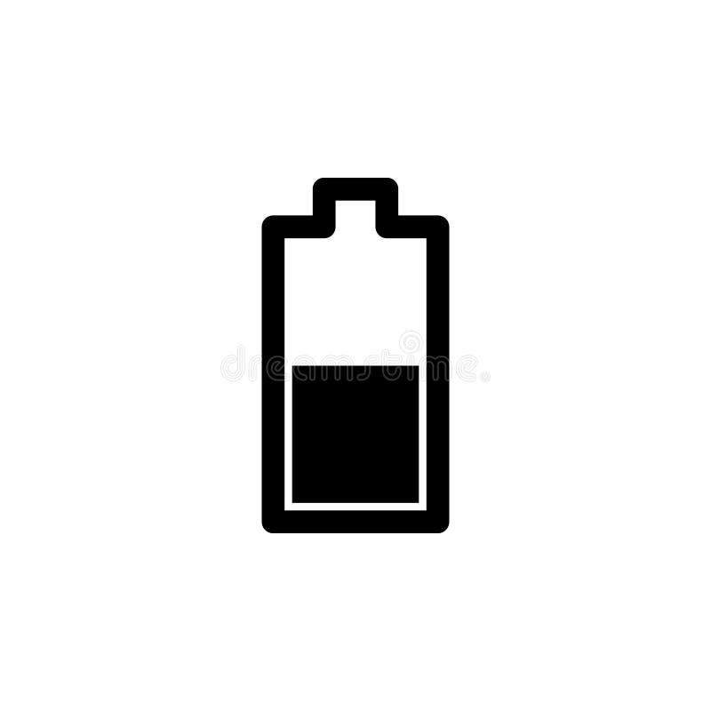 ícone médio do nível da bateria Elemento do ícone minimalistic para apps móveis do conceito e da Web Sinais e ícone da coleção do ilustração do vetor