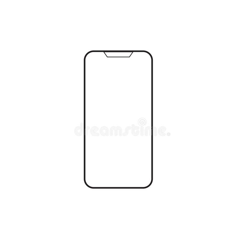 Ícone móvel do vetor do telefone esperto, smartphone do ícone no fundo do isolado imagens de stock royalty free