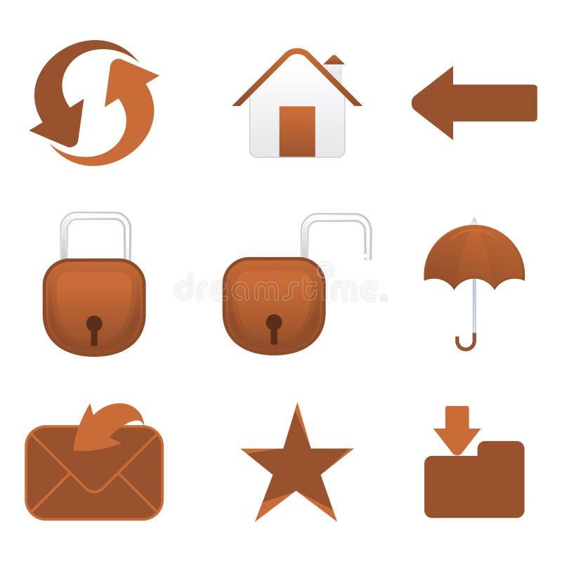 Ícone múltiplo abstrato do correio ilustração stock