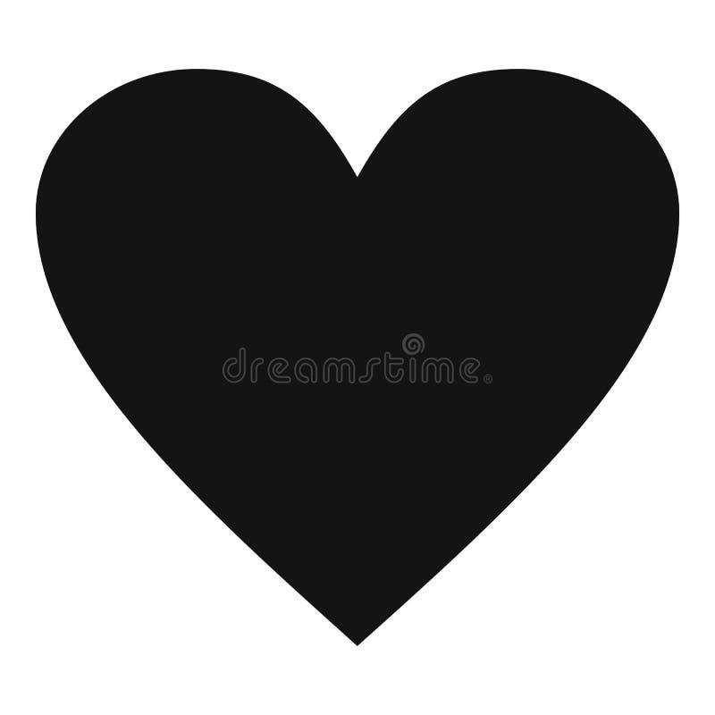 Ícone maçante do coração, estilo simples ilustração stock