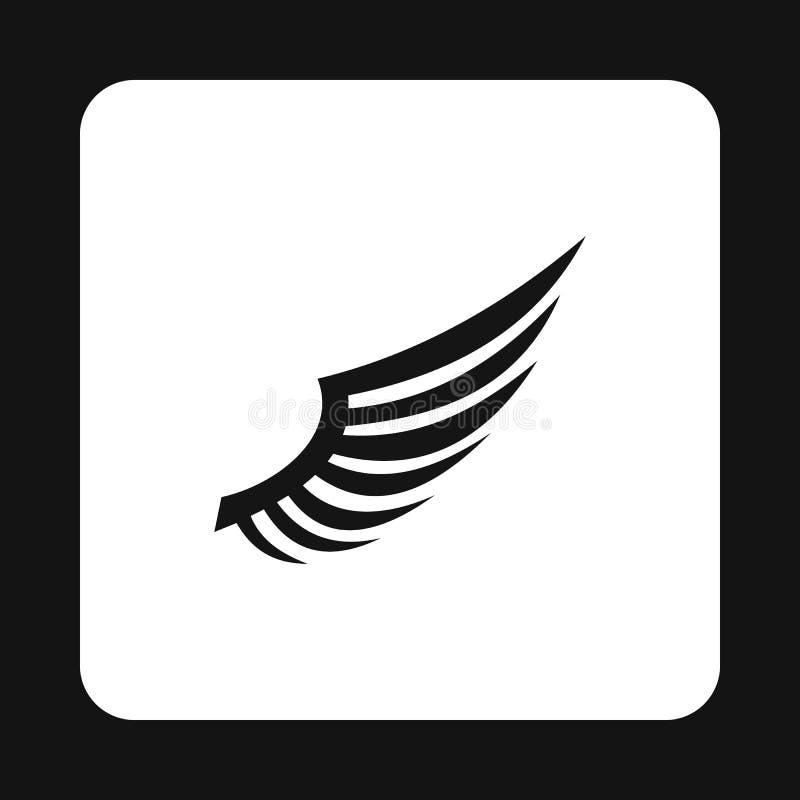 Ícone macio da asa dos pássaros, estilo simples ilustração do vetor