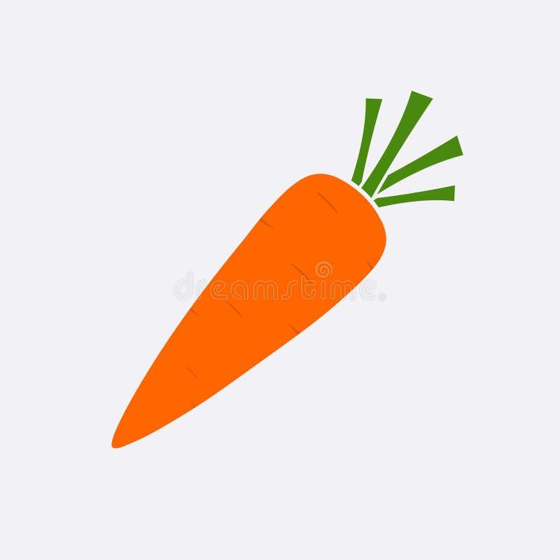 Ícone maduro da cenoura amarela Sinal liso simples moderno do vegetariano Conceito do Internet do alimento de Eco Natu na moda ilustração do vetor