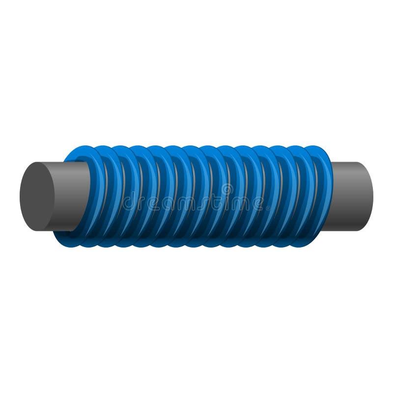 Ícone magnético azul da mola, estilo dos desenhos animados ilustração royalty free