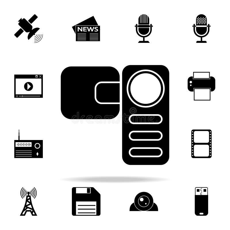 ícone manual da câmara de vídeo Grupo universal dos ícones dos meios para a Web e o móbil ilustração stock