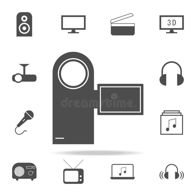 ícone manual da câmara de vídeo grupo universal dos ícones da Web para a Web e o móbil ilustração do vetor