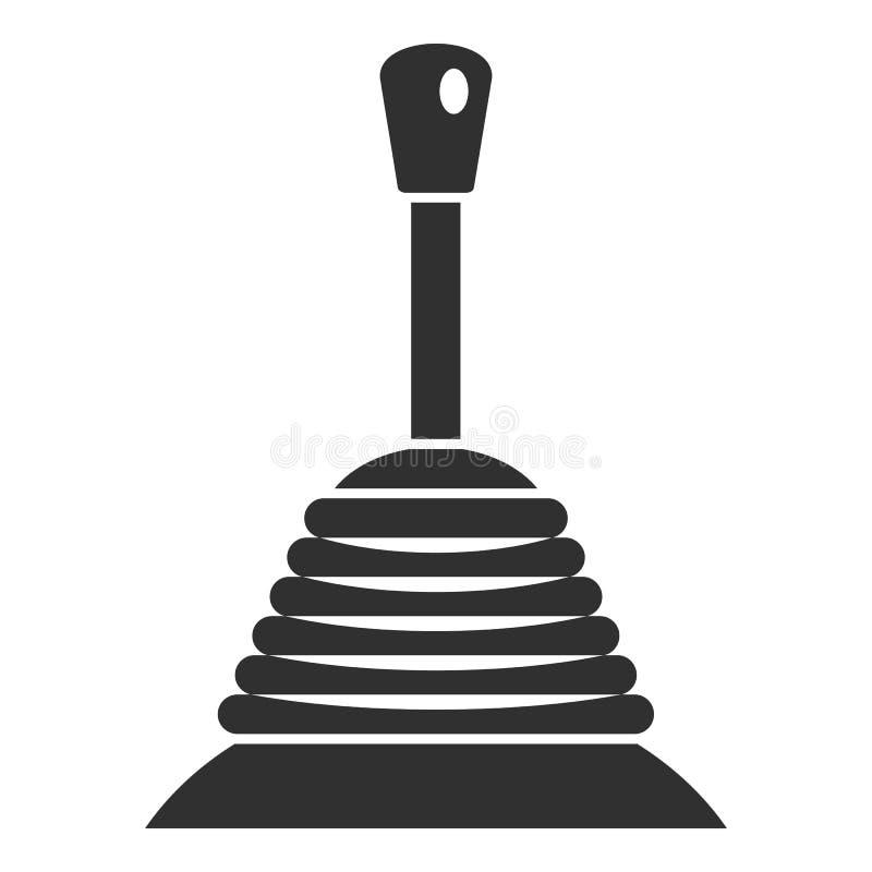 Ícone manual da caixa de engrenagens, estilo simples ilustração do vetor