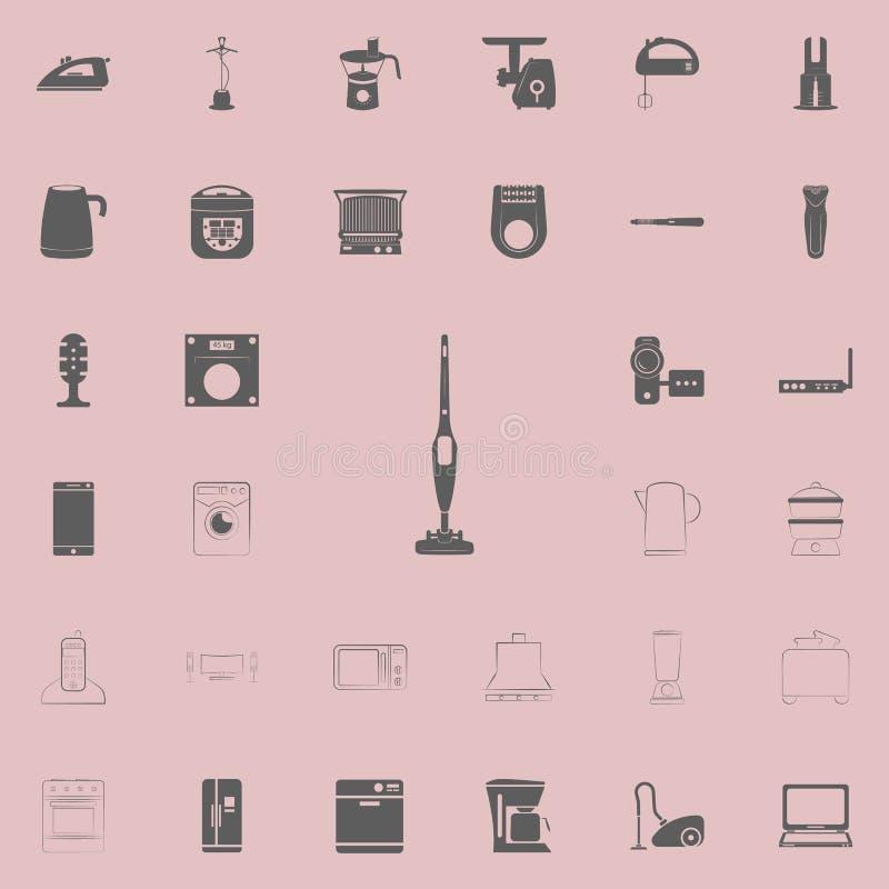 ícone manual do aspirador de p30 Grupo universal dos eletro ícones para a Web e o móbil ilustração stock