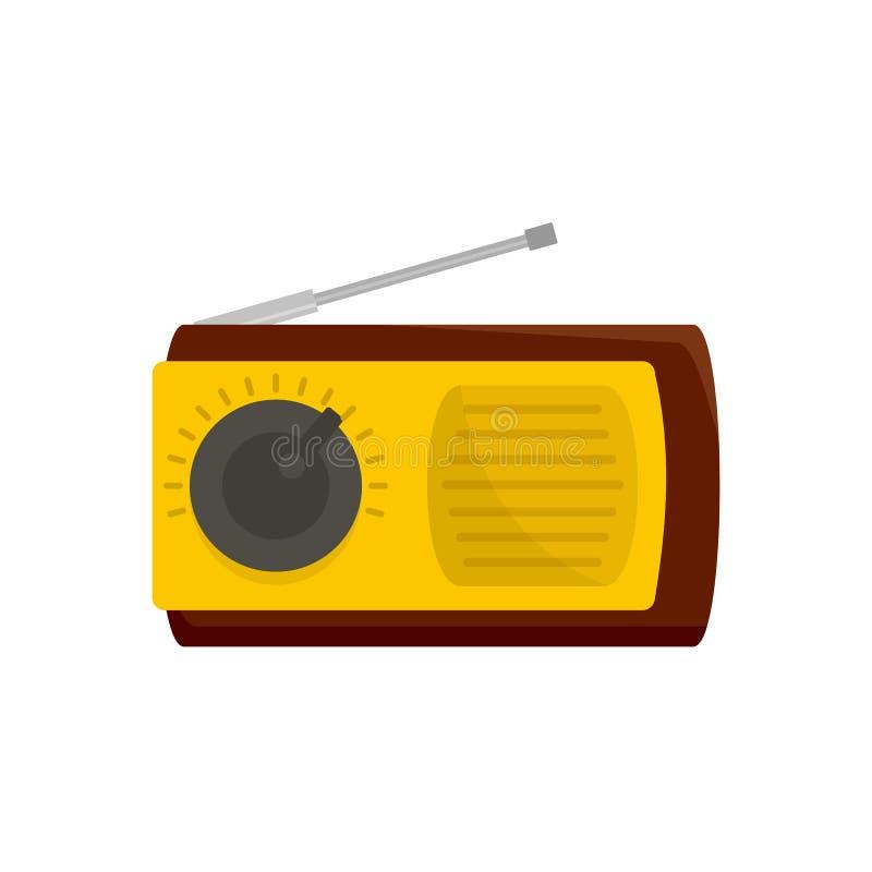 Ícone manual do receptor de rádio, estilo liso ilustração stock