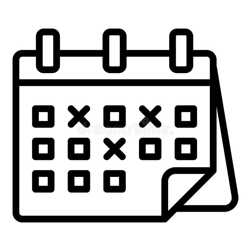 Ícone marcado das datas de calendário, estilo do esboço ilustração royalty free