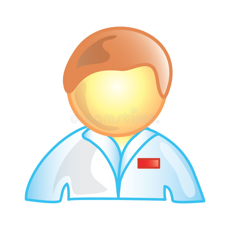 Ícone masculino da enfermeira ilustração do vetor