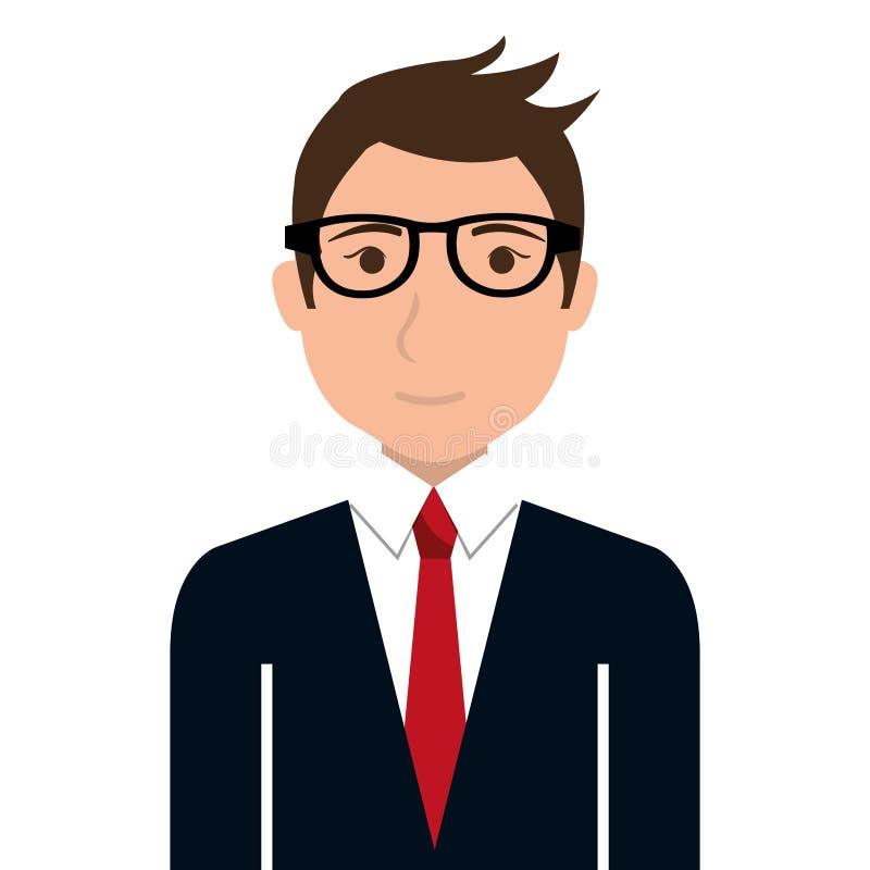 Ícone masculino do conceito do executivo empresarial ilustração stock
