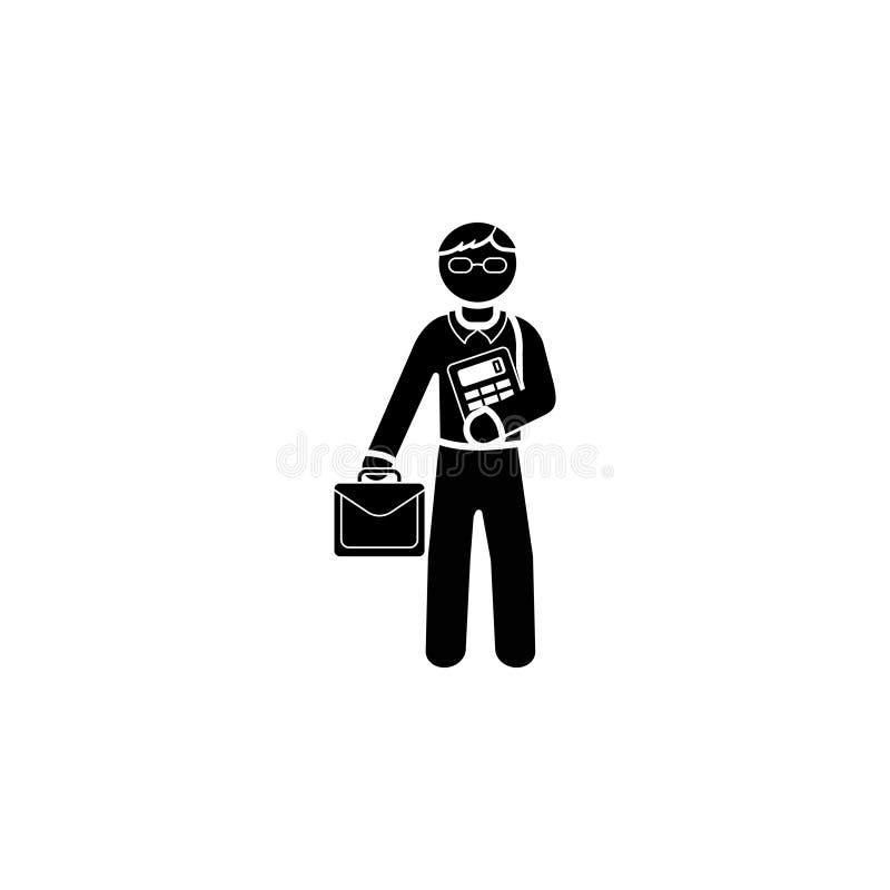 Ícone matemático do professor ilustração do vetor
