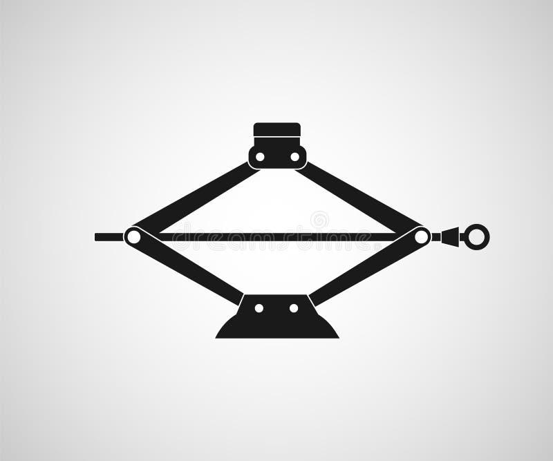 Ícone mecânico do jaque do carro ilustração do vetor