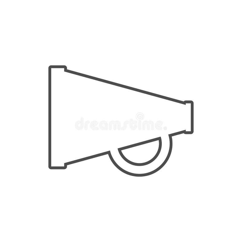 ícone mecânico do megafone Elemento da segurança do cyber para o conceito e o ícone móveis dos apps da Web Linha fina ícone para  ilustração do vetor