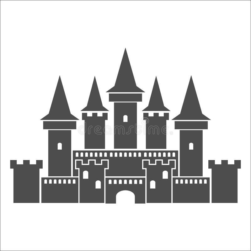 Ícone medieval do castelo ilustração royalty free