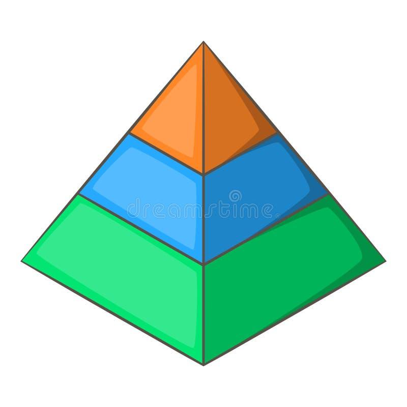 Ícone mergulhado da pirâmide, estilo dos desenhos animados ilustração royalty free