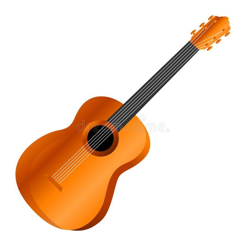 Ícone mexicano da guitarra, estilo dos desenhos animados ilustração stock