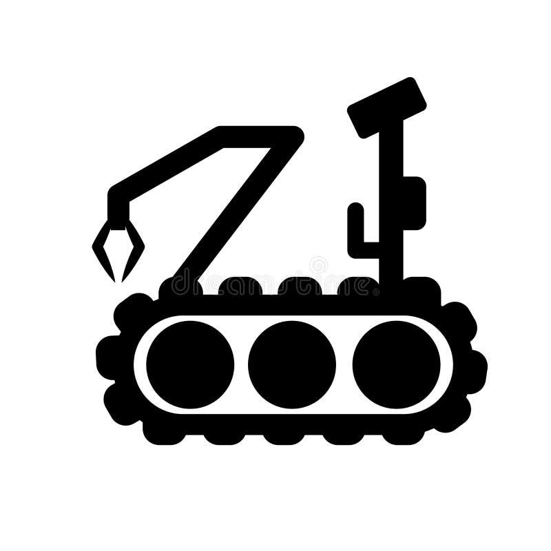 Ícone militar da máquina do robô  ilustração royalty free